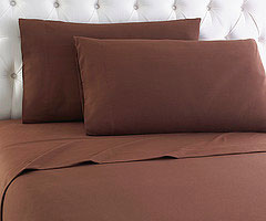 Micro Flannel Sheet Set - Chocolate