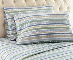 Micro Flannel Printed Sheet Sets - Calico Stripe