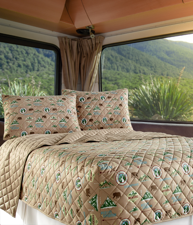 Camping Micro Flannel Rv Quilted Fitted, Rv Queen Bedspreads