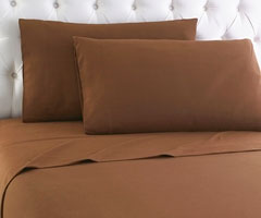 Micro Flannel Sheet Set - Chestnut