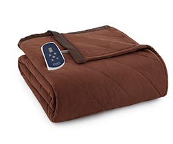 Micro Flannel Electric Heated Blanket - Chocolate