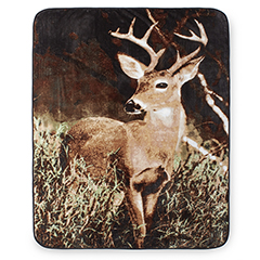 Hi Pile 60x80 Throw - Deer Country