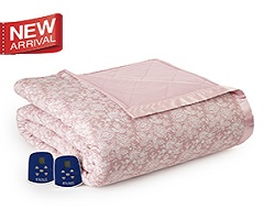 Micro Flannel Electric Heated Blanket - Enchantment-Rose