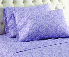 Micro Flannel Printed Sheet Sets - Enchantment Violet