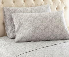 Micro Flannel Printed Sheet Sets - Enchantment Gray