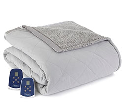 Micro Flannel Electric Sherpa Blanket - Greystone