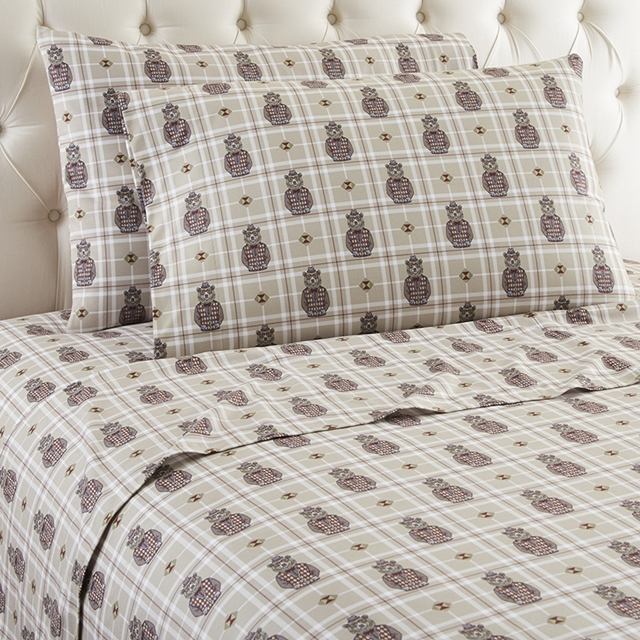 Micro Flannel Printed Sheet Sets   Grizzly B. Cool