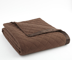 Chocolate Micro Flannel Quilted Blanket