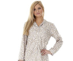 Micro Flannel Pajamas - Leopard