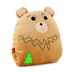 PILLOW POCKET PLUSHIES BEAR