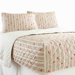 Micro Flannel RV Quilted Fitted Bedspread - Cardinals