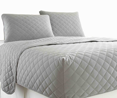 Micro Flannel RV Quilted Fitted Bedspread - Greystone