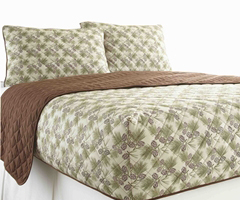 Micro Flannel RV Quilted Fitted Bedspread - Pinecone