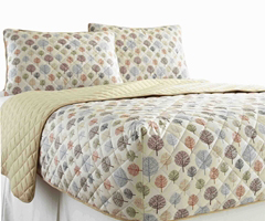 Micro Flannel RV Quilted Fitted Bedspread - Tree