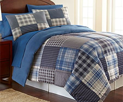 Micro Flannel Comforter - Smokey Mt. Plaid
