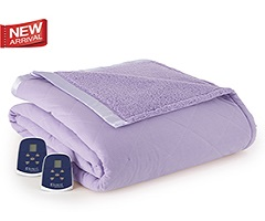 Micro Flannel Electric Sherpa Blanket - Amethyst
