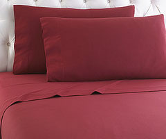 Micro Flannel Sheet Set - Brick