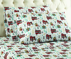 Micro Flannel Printed Sheet Sets - Cabins