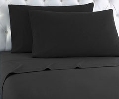 Micro Flannel Sheet Set - Charcoal
