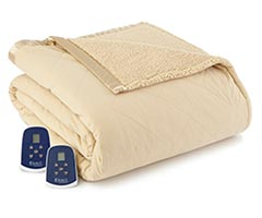 Micro Flannel Electric Sherpa Blanket - Chino