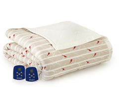 Micro Flannel Electric Heated Blanket - Cardinals