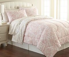 Micro Flannel Comforter - Enchantment Rose
