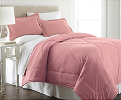 Micro Flannel Comforter - Frosted Rose