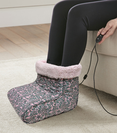 MICRO FLANNEL FOOT WARMER FLORAL PINK
