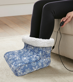 MICRO FLANNEL FOOT WARMER SNOW FLURRIES