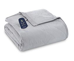 Micro Flannel Electric Heated Blanket - Greystone
