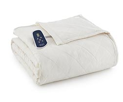 Micro Flannel Electric Heated Blanket - Ivory