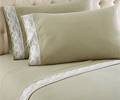 Micro Flannel Lace Edge Sheet Sets - Meadow
