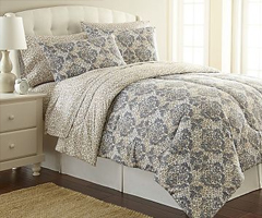 Micro Flannel Comforter - Leopard Damask