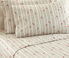 Micro Flannel Printed Sheet Sets - Cardinals