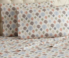 Micro Flannel Printed Sheet Sets - Trees