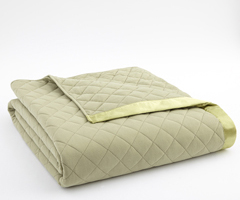 Meadow Micro Flannel Quilted Blanket