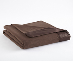 Micro Flannel Year-Round Blanket - Chocolate