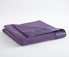 Micro Flannel Year-Round Blanket - Plum