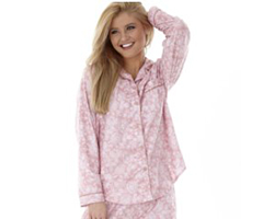 Micro Flannel Pajamas - Enchantment Rose