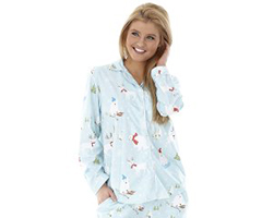 Micro Flannel Pajamas - Fun in the Snow