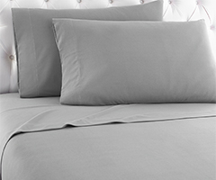 Micro Flannel Sheet Set - Greystone