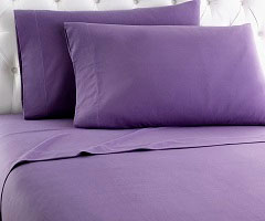 Micro Flannel Sheet Set - Plum