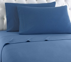 Micro Flannel Sheet Set - Smokey Mt. Blue