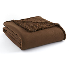 Micro Flannel Sherpa Blanket - Chocolate