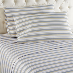 Micro Flannel Printed Sheet Sets - Metro Stripe