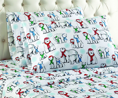 Micro Flannel Printed Sheet Sets - Polar Bears