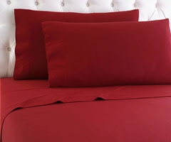 Micro Flannel Sheet Set - Scarlet
