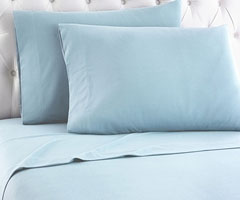 Micro Flannel Sheet Set - Spa Blue