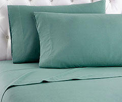 Micro Flannel Sheet Set - Spruce Green