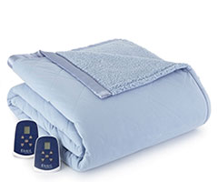 Micro Flannel Electric Sherpa Blanket - Wedgewood